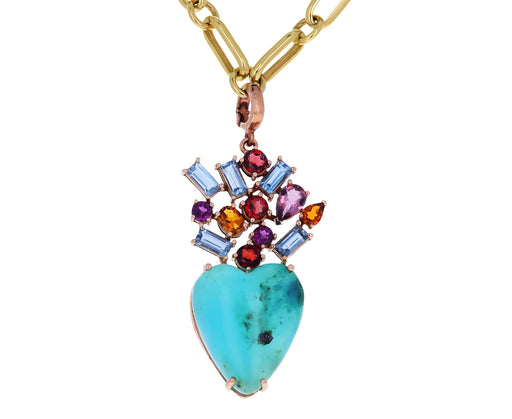 Christina Alexiou Opal and Tourmaline Heart Charm ONLY