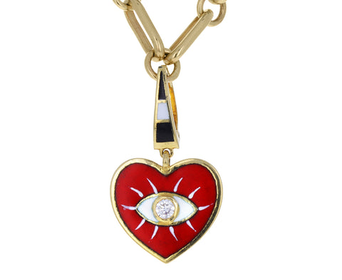 Holly Dyment Diamond Enamel Evil Eye Heart Charm ONLY