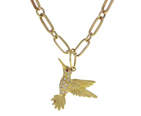 Jenna Blake Diamond Hummingbird Charm ONLY