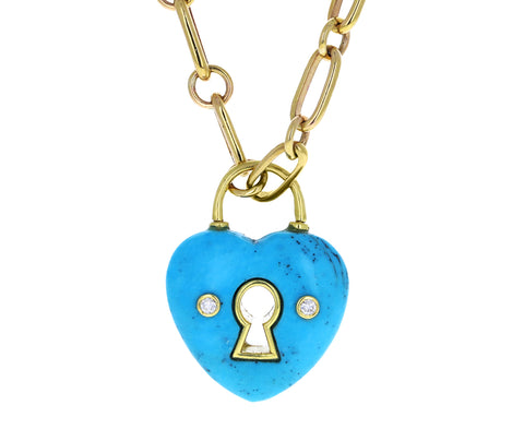 Jenna Blake Turquoise Heart Locket Charm ONLY