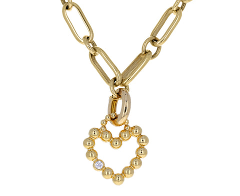 Maria Canale Diamond Flapper Heart Charm ONLY