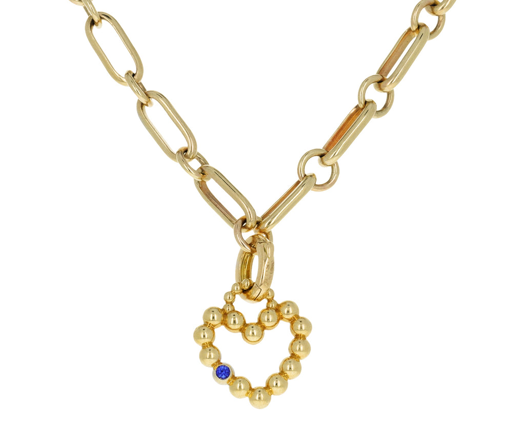 Maria Canale Sapphire Flapper Heart Charm ONLY