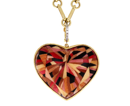 Silvia Furmanovich Marquetry Heart Charm ONLY