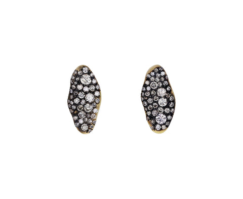 Mini Marquise Champagne Diamond Baby Malak Flourish Stud Earrings