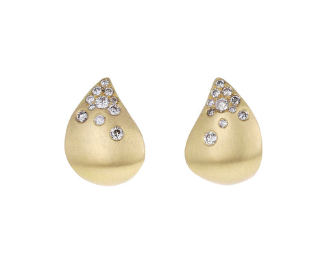 Champagne Diamond Fuse Tear Earrings