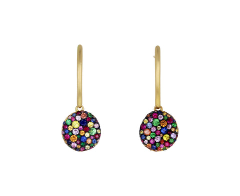 Rainbow Sapphire Baby Malak Bonbon Drop Earrings