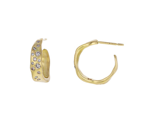 Champagne Diamond Baby Malak Hoop Earrings