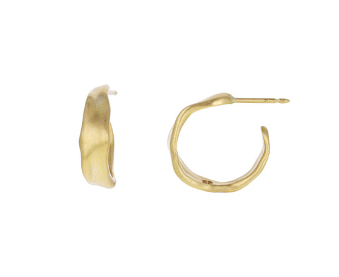 Gold Baby Malak Hoop Earrings