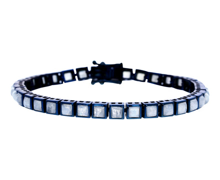 Square Rainbow Moonstone Tennis Bracelet - TWISTonline