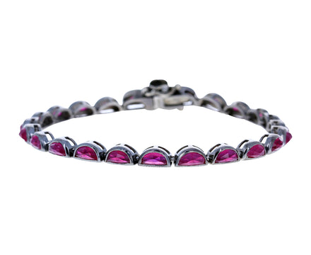 Ruby Scallop Tennis Bracelet - TWISTonline