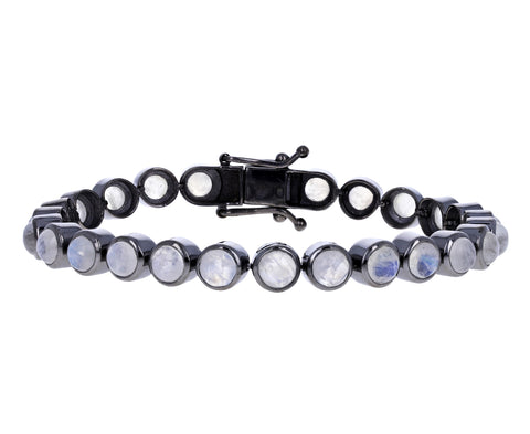 Moonstone Dot Tennis Bracelet