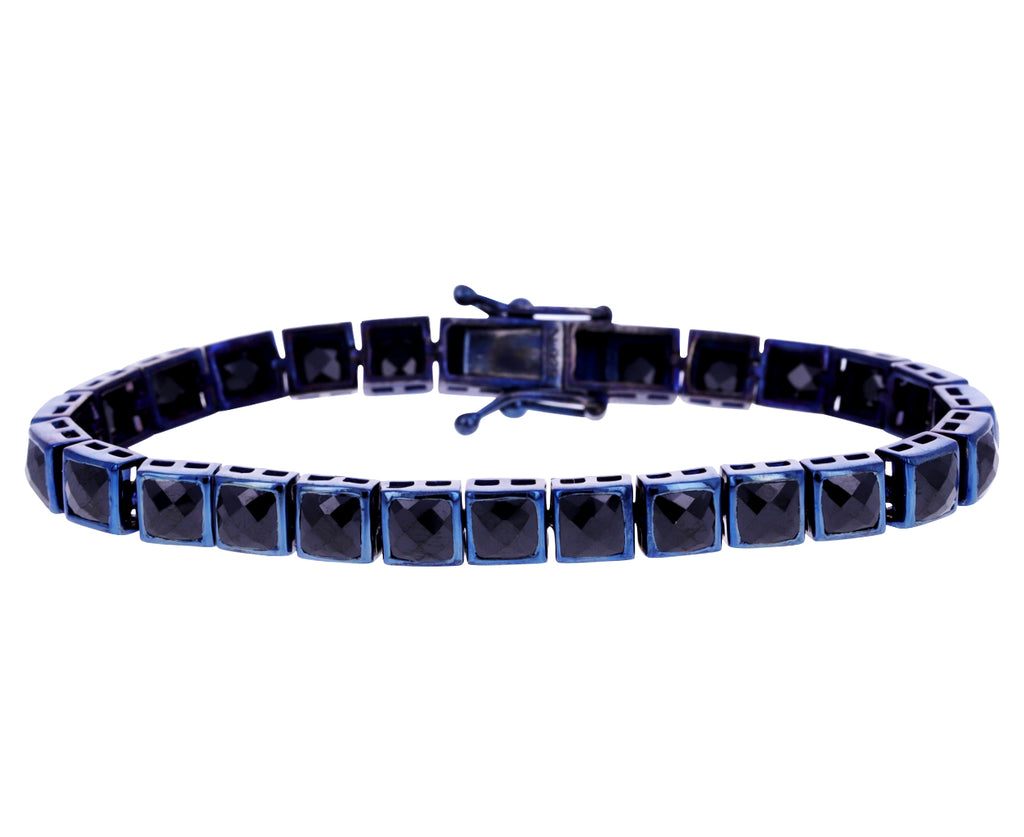 Black Spinel Tennis Bracelet