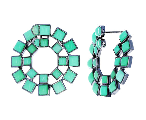 Chrysoprase Wheel Earrings - TWISTonline