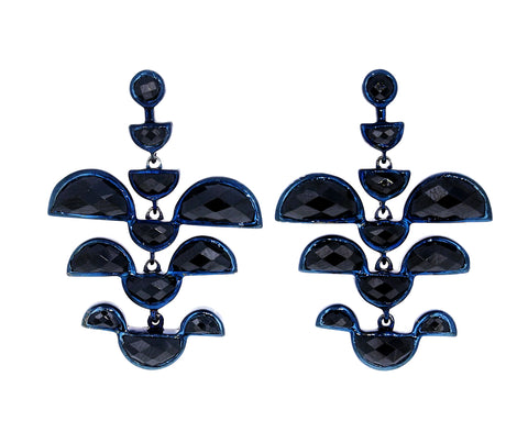 Black Spinel Phoenix Earrings - TWISTonline