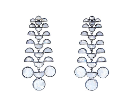 Rainbow Moonstone Reptile Girandole Earrings - TWISTonline