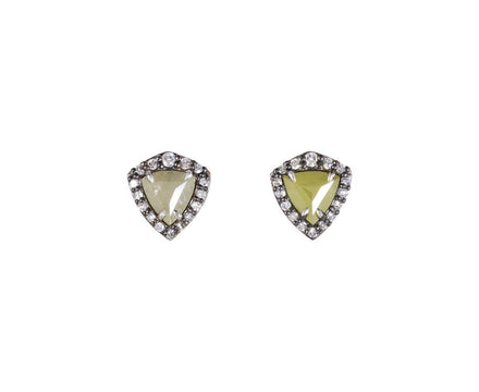 Trillion Cut Rustic Diamond Earrings - TWISTonline