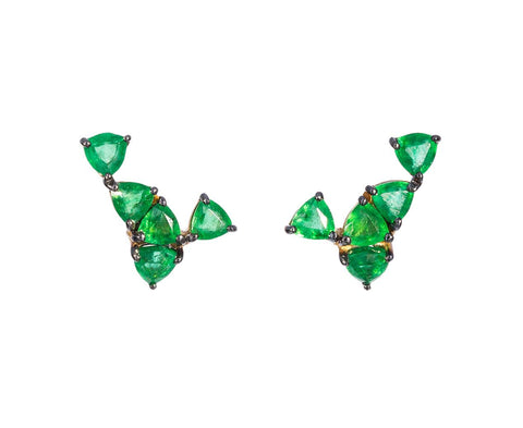 Triangular Emerald Earrings - TWISTonline