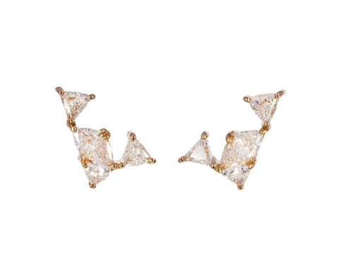 Triangular Diamond Earrings - TWISTonline