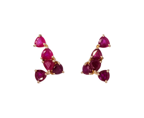 Ruby Shark Tooth Earrings