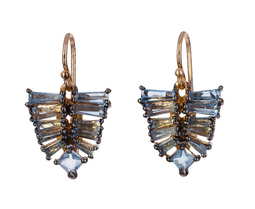 Aquamarine Mosaic Arrow Earrings - TWISTonline