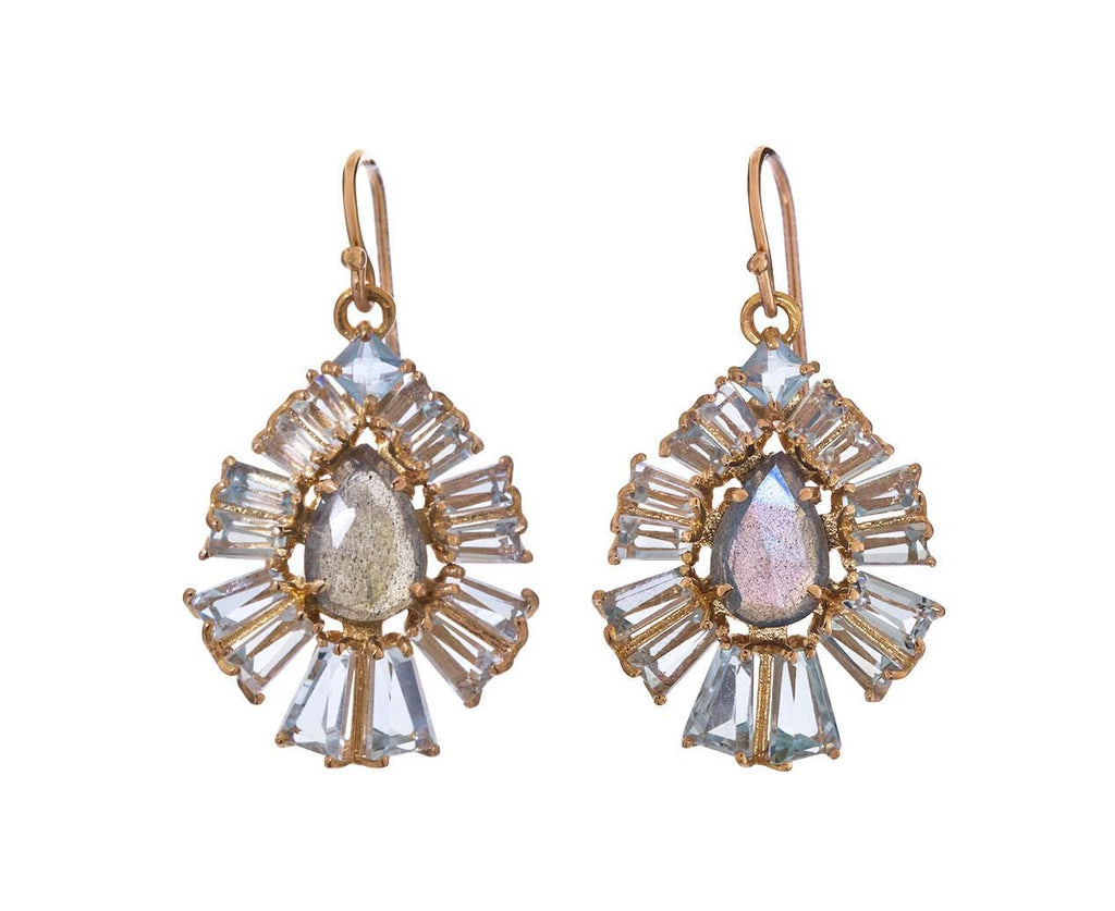 Labradorite and Aquamarine Radiant Fan Earrings zoom 1_nak_armstrong_gold_labradorite_aquamarine_earrin