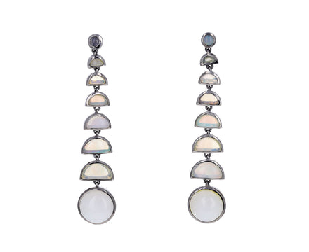 Ethiopian Opal Ball Bearing Earrings