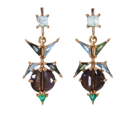 Multi-Stone Switchblade Earrings - TWISTonline