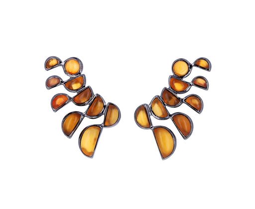 Carnelian Lobster Stud Earrings