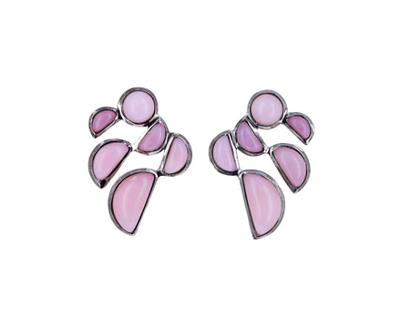 Pink Opal Prawn Stud Earrings