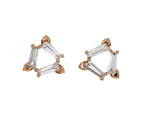 Diamond Rosette Earrings - TWISTonline