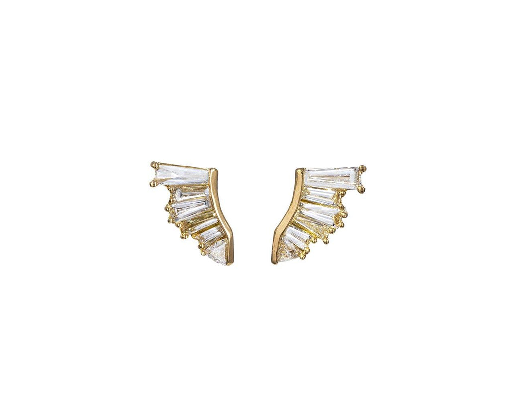 Diamond Pleat Earrings zoom 1_nak_armstrong_gold_diamond_pleat_stud_earrings