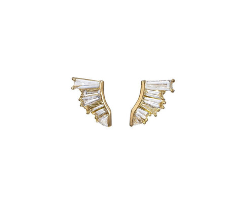 Diamond Pleat Earrings - TWISTonline
