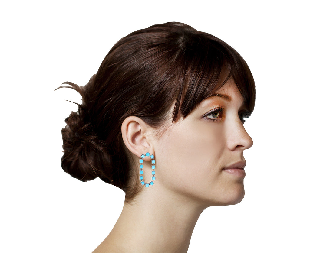 Turquoise Loop Earrings - TWISTonline