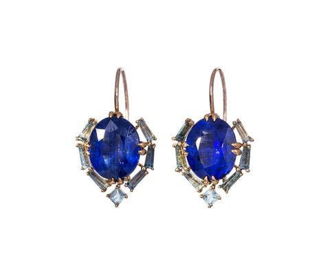 Kyanite and Aquamarine Satchel Earrings - TWISTonline