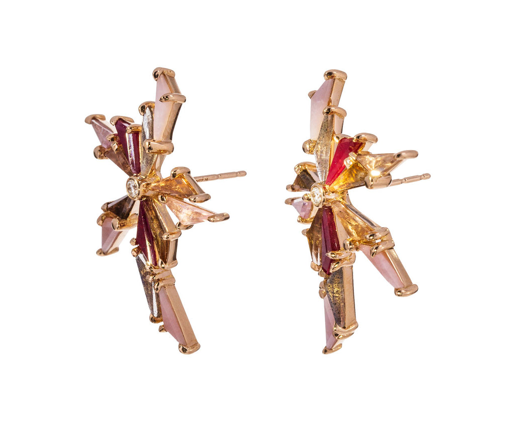 Pink Toned Bermuda Earrings - TWISTonline