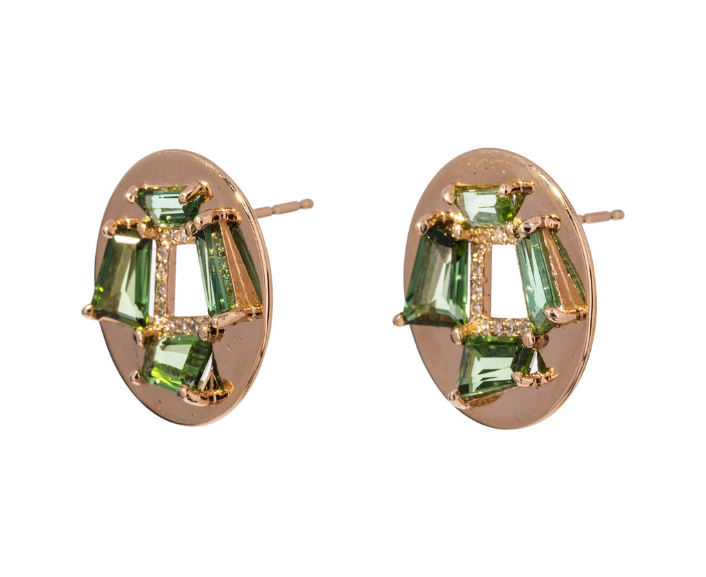 Diamond Tourmaline Fenestra Earrings - TWISTonline