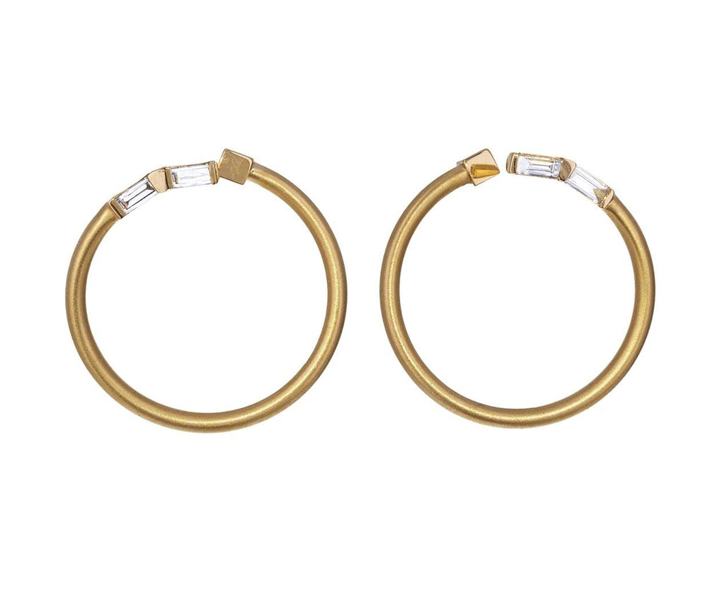 Diamond Baguette Bypass Hoops - TWISTonline
