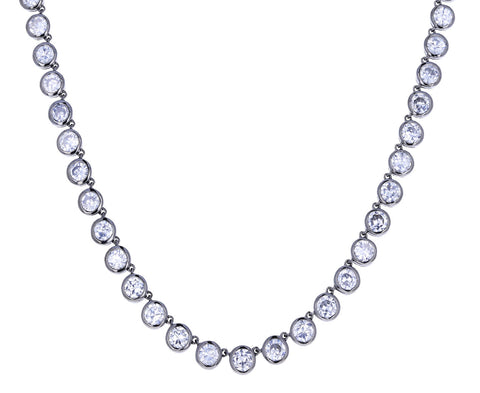 Brilliant White Zircon Riviere Necklace