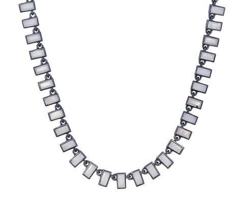Gray Agate Baguette Mosaic Necklace - TWISTonline