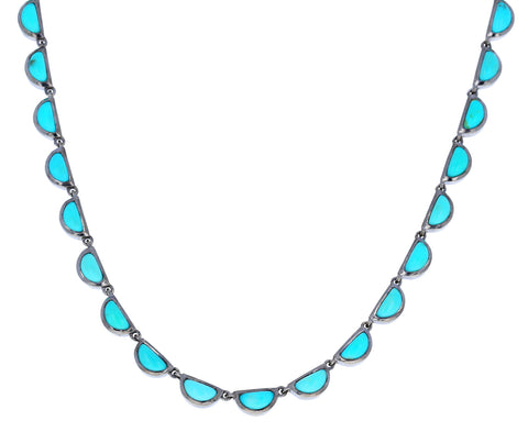 Turquoise Riviere Scallop Necklace - TWISTonline
