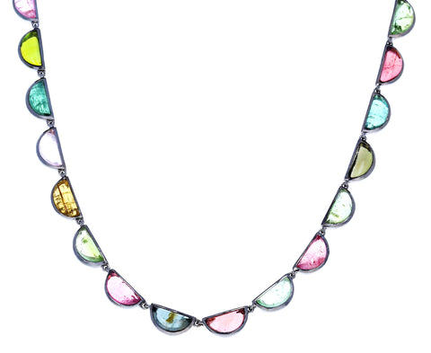 Tourmaline Riviere Scallop Necklace - TWISTonline