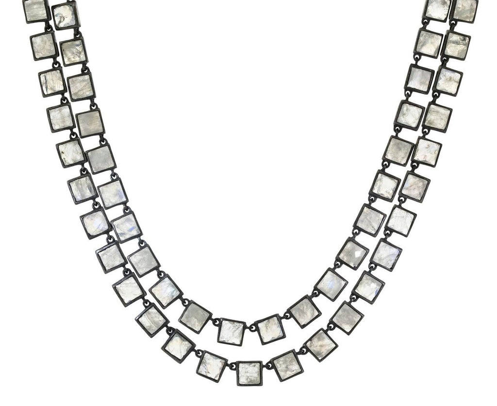 Rainbow Moonstone Mosaic Necklace - TWISTonline
