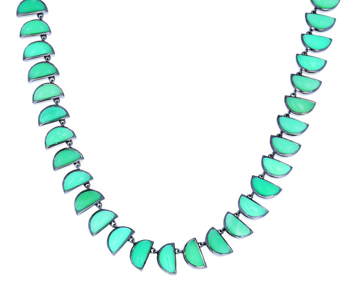 Chrysoprase Riviere Worm Necklace - TWISTonline