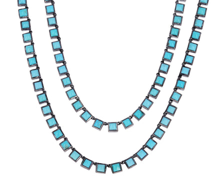 Turquoise Riviere Opera Tile Necklace