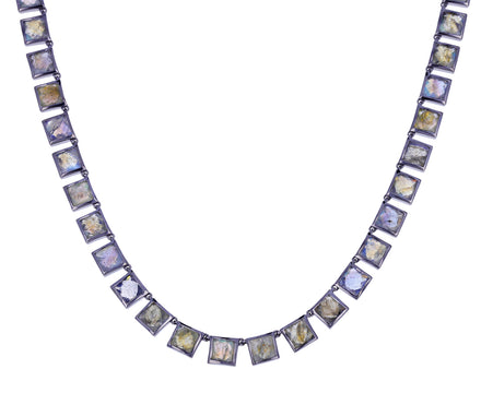 Labradorite Riviere Tile Necklace