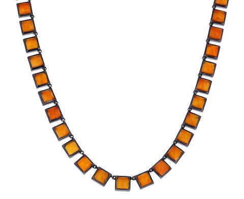 Carnelian Riviere Tile Necklace