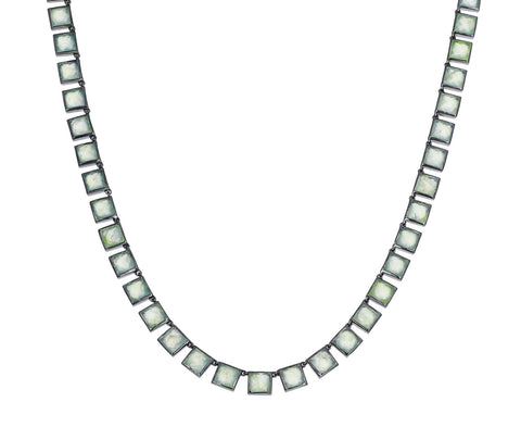 Prehnite Mosaic Necklace