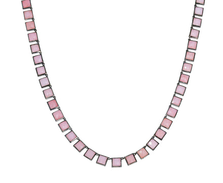 Pink Opal Mosaic Necklace