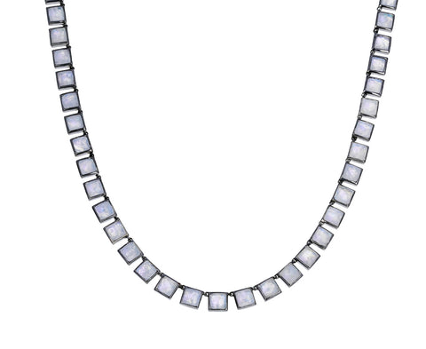 Rainbow Moonstone Tile Mosaic Necklace - TWISTonline