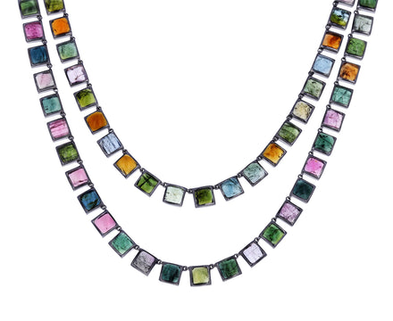 Tourmaline Opera Tile Necklace